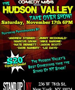 HUDSon valley comedy mob takeover 11.17 6pm